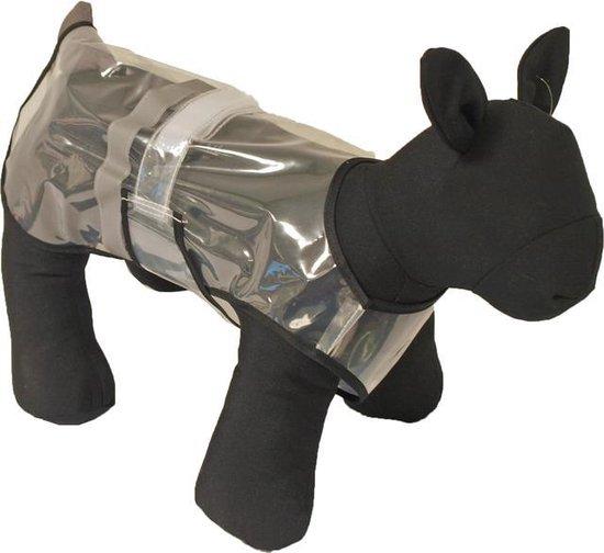 Regenjas hond transparant + reflectie 20cm