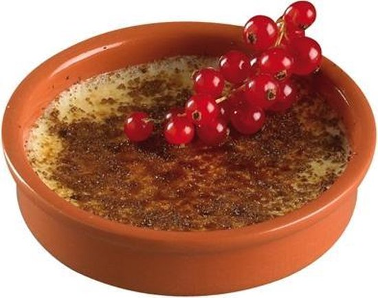 Cosy & Trendy Crème brûlée Schaaltje - Terracotta - Ø12 cm - 4 stuks