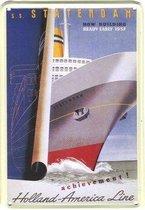 Holland Amerika Lijn reclame HAL ss Statendam reclamebord 10x15 cm