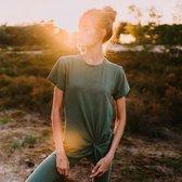 Yoga Shirt Cath Olijfgroen - Maat Large