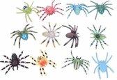 Nep spinnetjes gekleurd 12 stuks