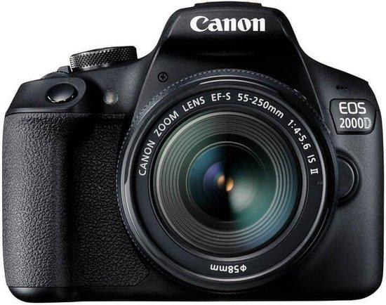 Canon EOS 2000D + 18-55mm IS - Zwart