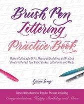 Brush Pen Lettering Practice Book