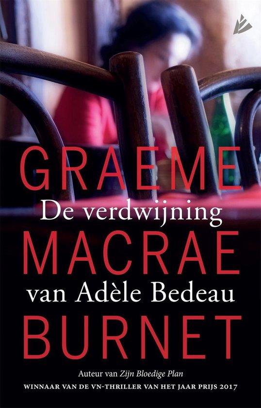 De verdwijning van Adèle Bedeau - Graeme Macrae Burnet | Fthsonline.com