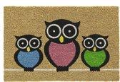 Kokosmat met print / Owls 417 / 40 cm x 60 cm /