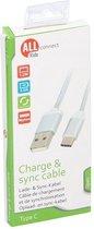 USB C kabel Charge en Sync 1,2m 2A wit