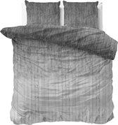 Sleeptime Wood Fresh 2 Dekbedovertrekset - Tweepersoons - 200x200/220 + 2 kussenslopen 60x70 - Grijs