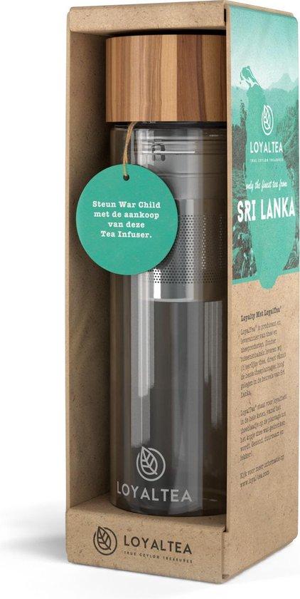 LoyalTea - Theeglas met filter - 350 ml - Bamboo - Theeglazen