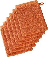 De Witte Lietaer  Imagine  –  Washandjes  -  Oranje - Set van 6