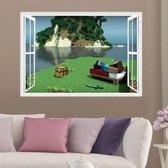 3D Ruit uit Minecraft Game - Muursticker / Muurposter Jongens Slaapkamer