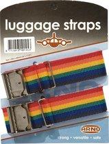 Arno - Kofferriemen - Luggage straps - 2 Stuks - Multicolor