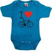 Cycle Gifts Baby romper blauw cycling fietscadeau