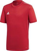 adidas Core18 Jersey Junior Sportshirt - Maat 140  - Unisex - rood