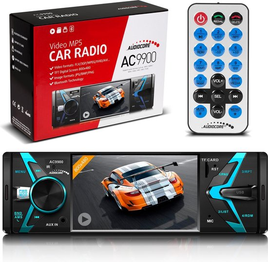 Autoradio met scherm Bluetooth USB SD Hands-free kit