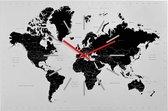 Sompex – 8120 – Wandklok – Metaal – 60x40x2 cm – World – Wit/Zwart