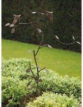 Metalen Tuinsteker - tuindecoratie - Uiltjes