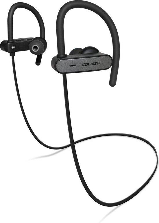 EarHackz® Goliath - Draadloze In-ear Bluetooth Sport Oordopjes - Zwart/grijs