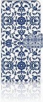 Motorola Moto E5 Plus Wallet Book Case Hoesje Flower Blue