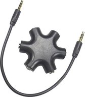 Audio splitter, Hoofdtelefoon splitter, koptelefoon splitter, 3.5mm, zwart