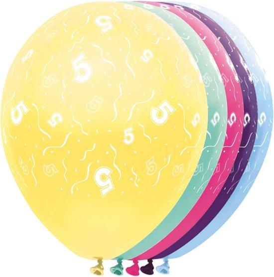 Ballonnen 5 jaar - feestballon - ballon - 5 stuks