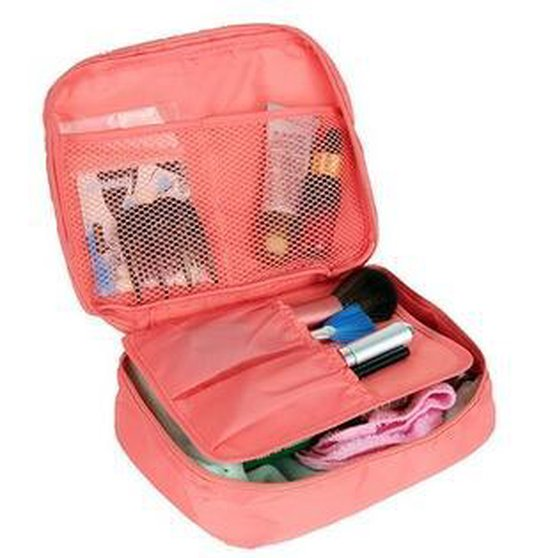 Pink Travel Toiletbag - Reis Toilet Bag Make Up Organizer - Cosmetica Etui Tasje - AA Commerce