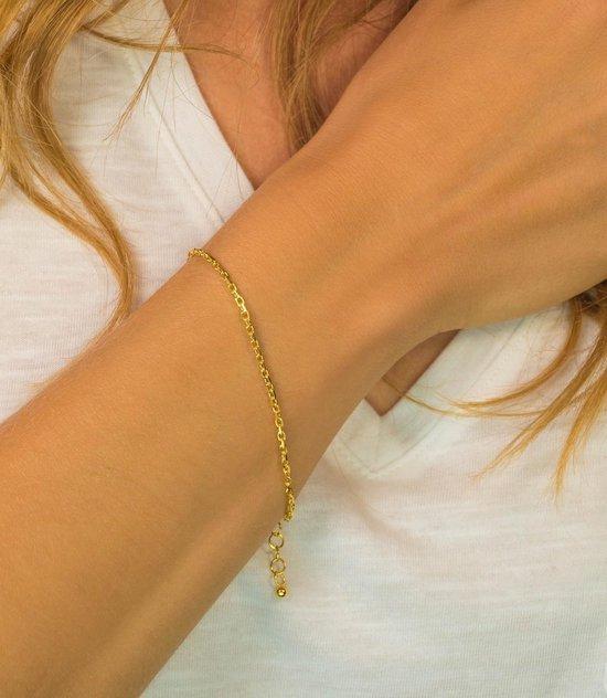 ZINZI zilveren armband goud verguld ZIA1415G (Lengte 18-20cm)