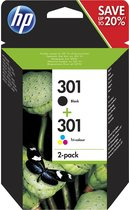 HP 301 - Inktcartridges / Zwart / Kleur / Dual-Pac