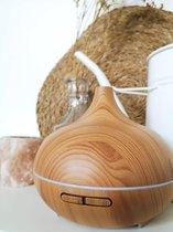 Aroma Diffuser Arizona© in hout voor aromatherapie | Etherische olie vernevelaar en luchtbevochtiger 500ml (!) voor grote ruimtes| Dé geurverspreider origineel van HappyHaves