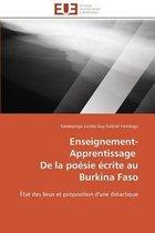 Enseignement-Apprentissage de la Po�sie �crite Au Burkina Faso