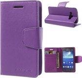 Goospery Sonata Leather hoesje Samsung Galaxy Ace 4 G357 Paars