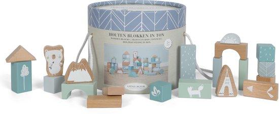 Little Dutch Houten Blokkenton Adventure Blue