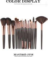 Maange - Professionele 18-delige Make-up borstel set | Rose goud | Exclusief voor Cosmetica & Make up | Kwastenset | Makeup|
