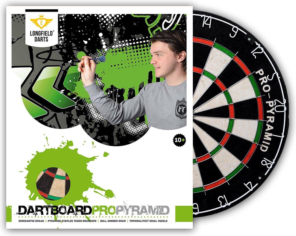 Longfield Pro Pyramid - Dartbord - Darts - wedstrijd dartbord - professioneel dartbord - dartboard
