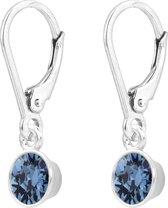 ARLIZI 1639 Oorbellen Swarovski Kristal Hanger - Dames - Sterling Zilver - 2,5 cm - Blauw