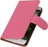 HTC One S Effen Booktype Wallet Hoesje Roze