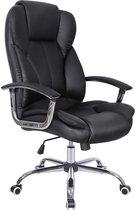 Luxe bureau stoel met hoge rugleuning | Zwart | Kunstleer | Grote zitting |  Kantel functie | Draaibaar | Kantoor | Gaming | iMac