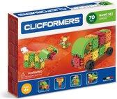 Clicformers bouwblokken - Basic 70 pcs bouwset- gepatenteerd constructie speelgoed - made in Belgium bouwspeelgoed