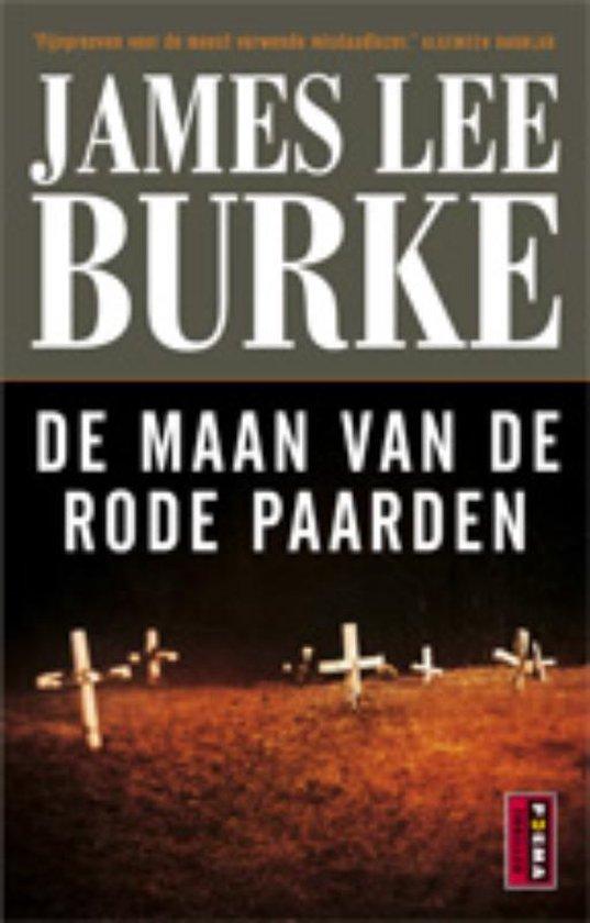 Cover van het boek 'De maan van de rode paarden' van James Lee Burke