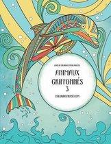 Livre de Coloriage Pour Adultes Animaux Griffonn s 3