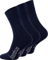 Bamboe sokken - 3 paar - navyblauw - normale schachtlengte - maat 35/38