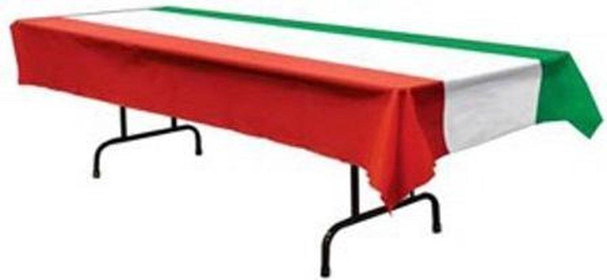 Tafelkleek Italiaanse vlag - rood wit en groen - 275 x 135 cm - Merkloos