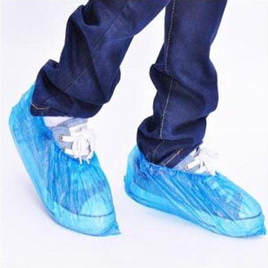 Waterdichte Wegwerp Schoenhoesjes - 100X - Regen Schoenovertrek Plastic