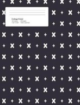 Halloween Crosses Composition College Ruled (7.44 X 9.69) 200 Pages V4