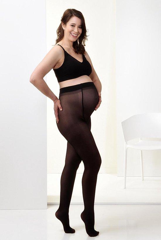 Mamsy Comfortabele Semi Transparante Zwangerschapspanty 40den (Zwart   S)