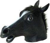 Paarden masker zwart voor volwassenen