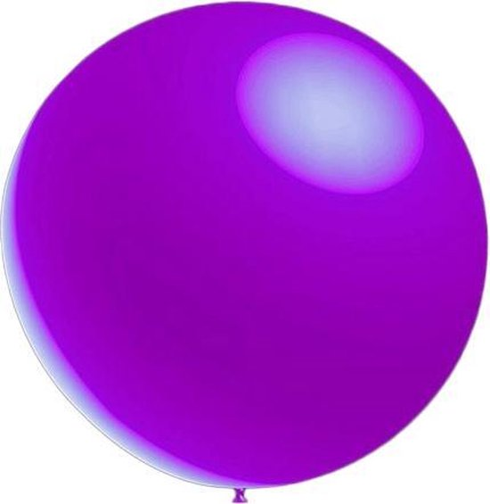 100 stuks - Metallic decoratieballonnen lavendel 28 cm professionele kwaliteit