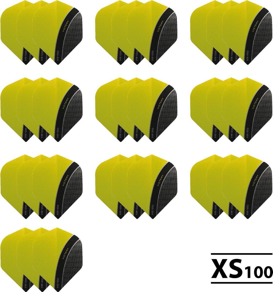 10 - Sets XS100 Curve 100 micron flights - Geel