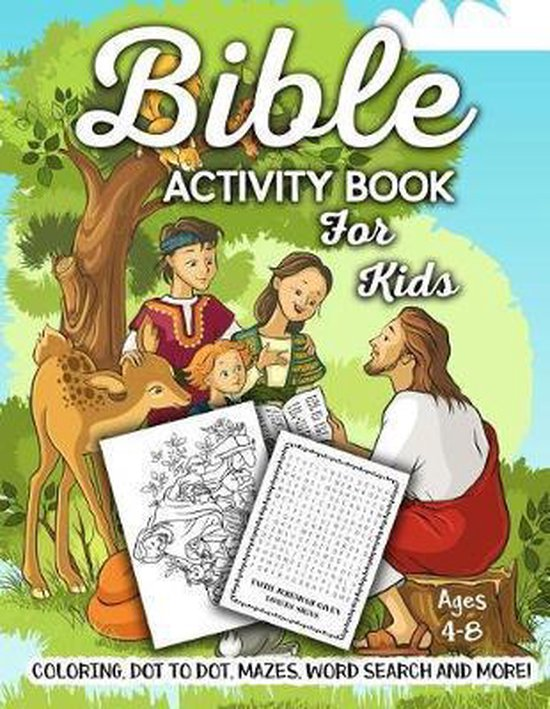Bible Activity Book for Kids Ages 4-8