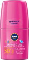 NIVEA SUN Kids Zonnebrand - Protect & Play Roze Roll-on - SPF 50+ - 50 ml