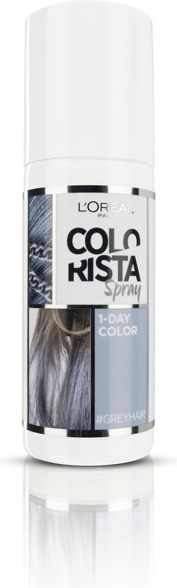 L'Oréal Paris Colorista Spray Haarverf - Grey - 1 Dag Haarkleuring